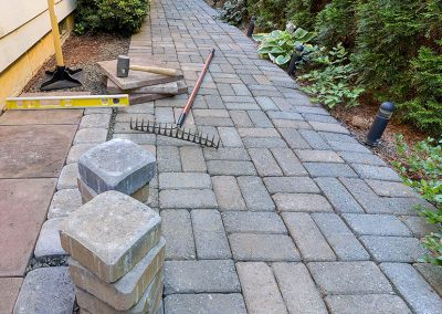 Concrete Paver Path